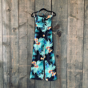 Vintage Hawaiian Wide-leg Jumpsuit