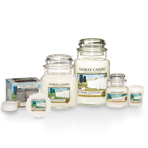 Yankee Candle Clean Cotton Range