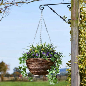 Artificial Easy Hanging Basket Lilac