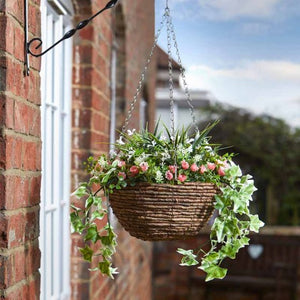 Artificial Blush Easy Hanging Basket