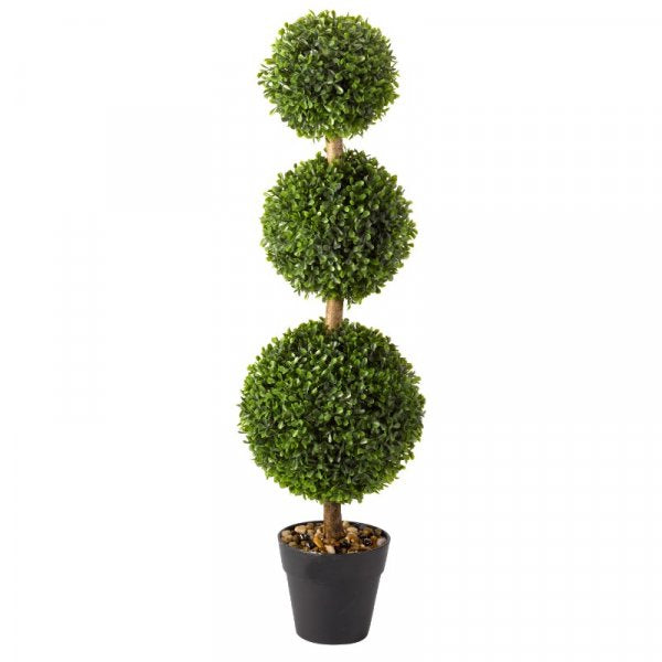 Artificial Trio Ball Topiary Tree