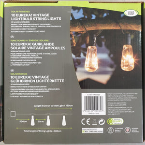 Vintage Lightbulb Solar String Lights