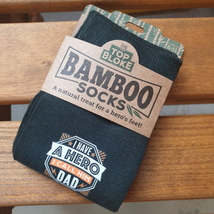 Top Bloke Bamboo Socks 'Hero Dad'