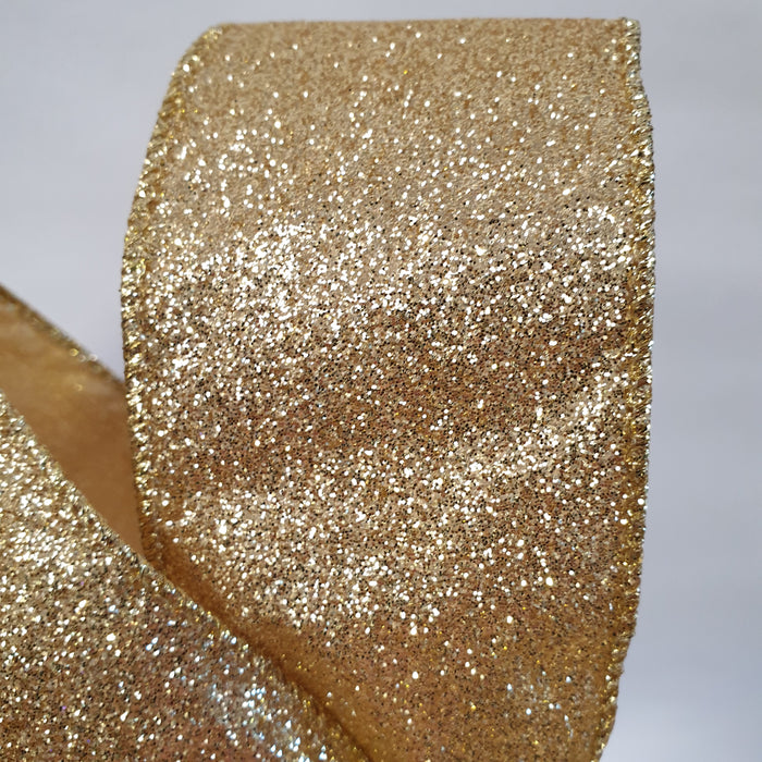 Gold Glitter Ribbon 2.7m