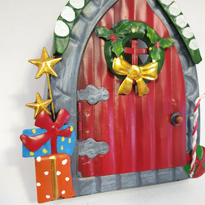 Fairy Kingdom Red Door with Candy Cane