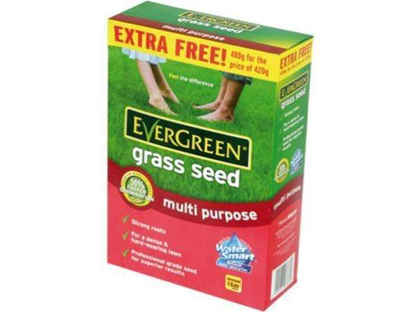 Evergreen Multi Purpose Grass Seed 14m2 + EXTRA FREE (460g)