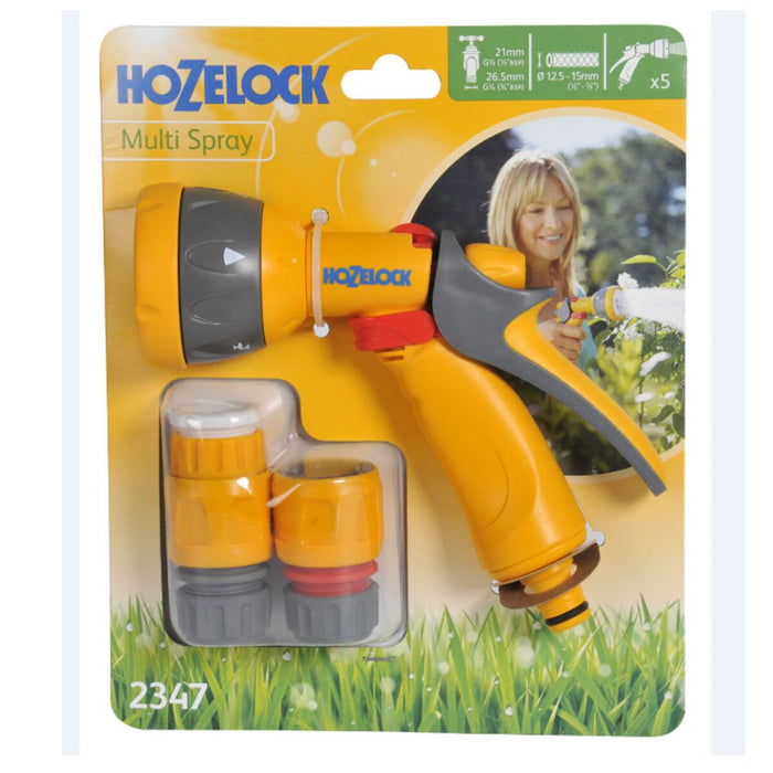 Hozelock Multi Spray Gun and Fittings Set