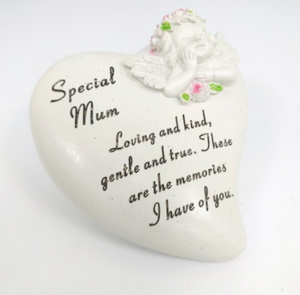 Memorial Heart Plaque: Special Mum