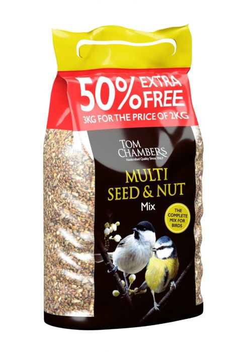 Tom Chambers Multi Seed & Nut Mix 50% FOC 3kg