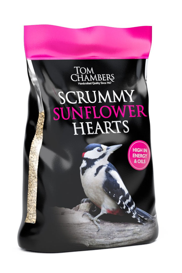 Tom Chambers Scrummy Sunflower Hearts 12.55kg