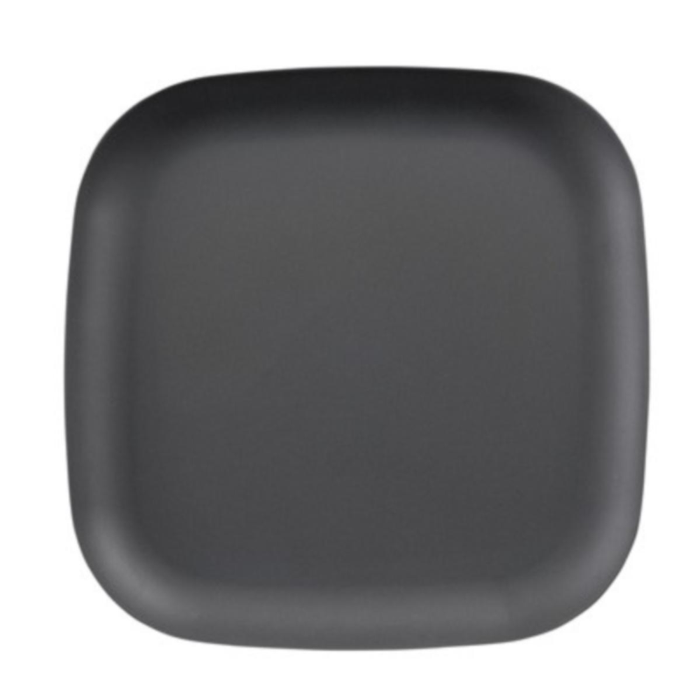 Grey Square Dinner Plate