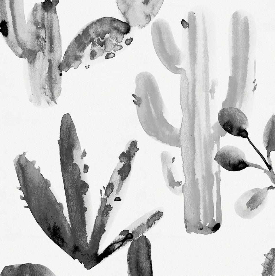 Charcoal Painted Cactus