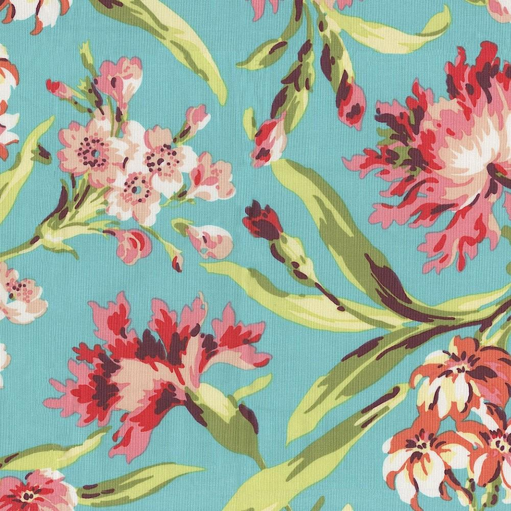 Product image for Coral and Teal Floral Cradle Sheet