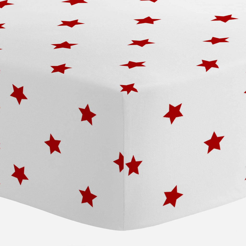 Product image for Red Stars Crib Sheet