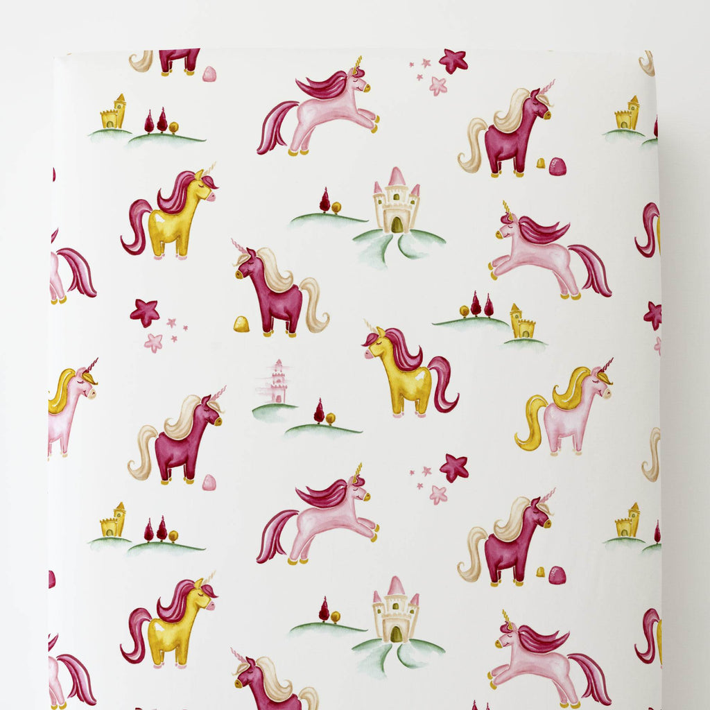 Product image for Painted Unicorns Toddler Sheet Bottom Fitted