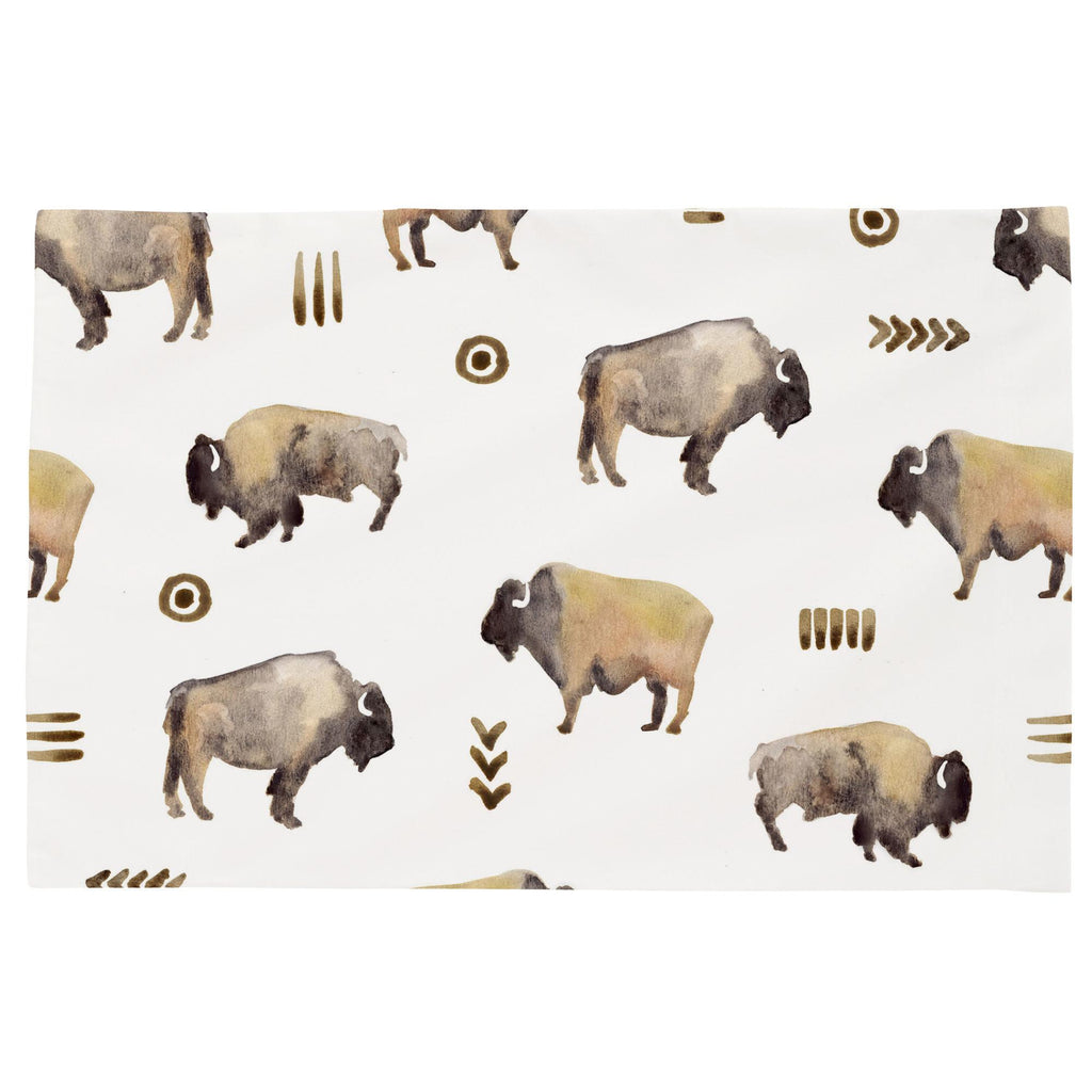 Product image for Watercolor Buffalo Toddler Pillow Case