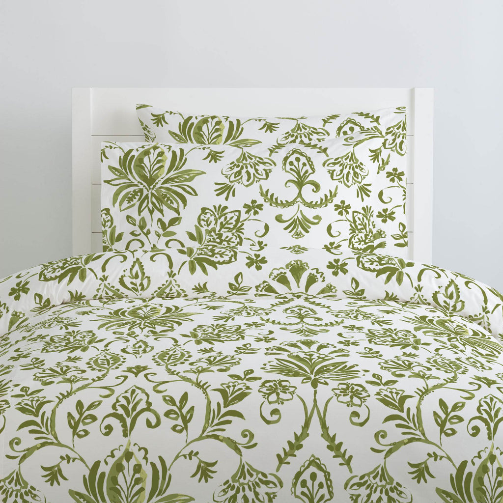 Product image for Sage Coastal Damask Duvet Cover