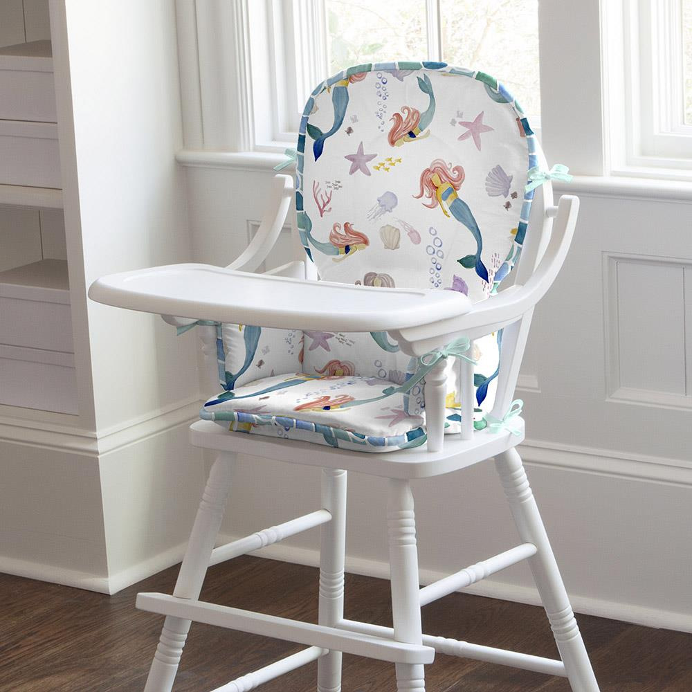 Product image for Watercolor Mermaids High Chair Pad