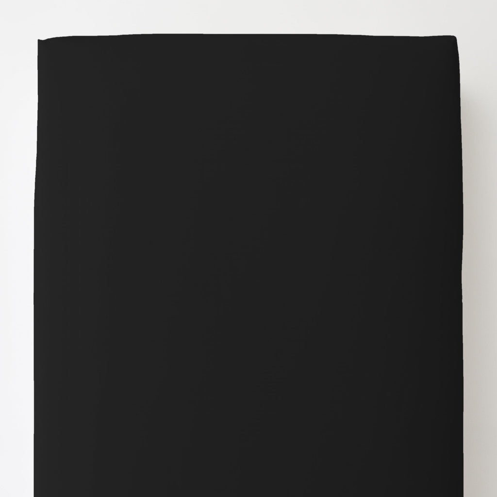 Product image for Solid Black Toddler Sheet Bottom Fitted