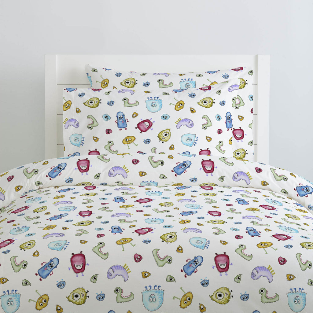 Product image for Watercolor Monsters Duvet Cover