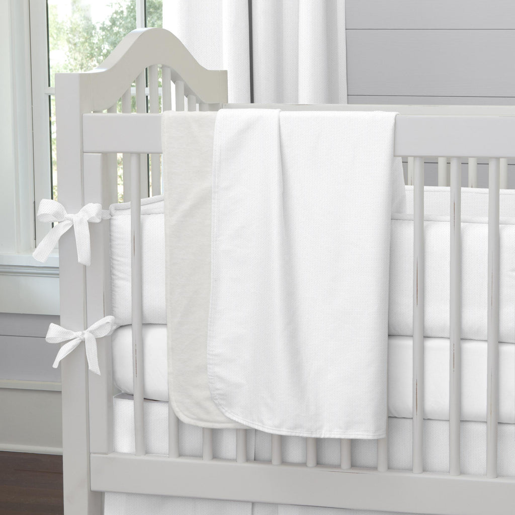 Product image for White Pique Baby Blanket