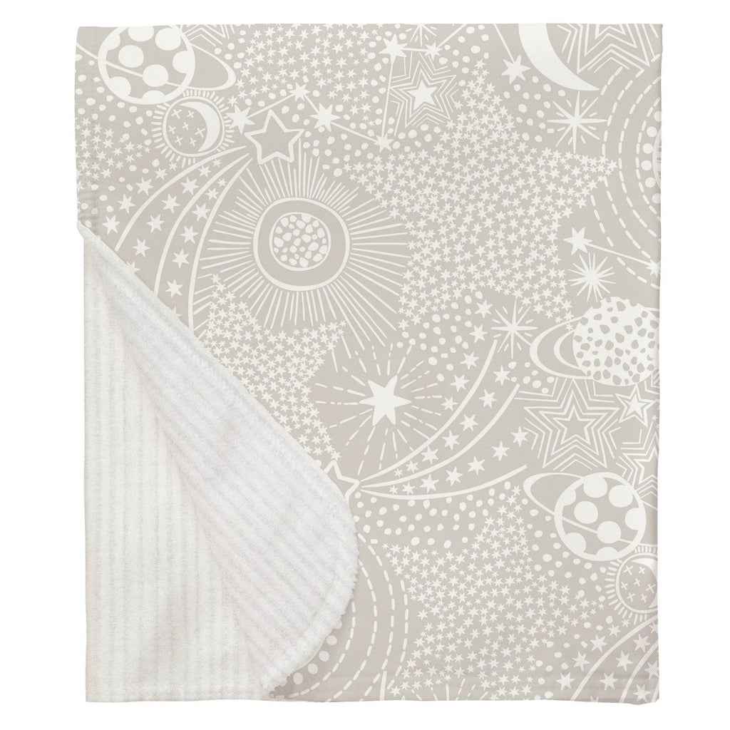 Product image for French Gray and White Galaxy Baby Blanket