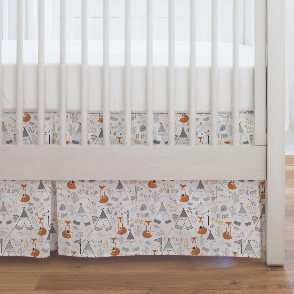 Product image for Brave Fox Crib Skirt Single-Pleat