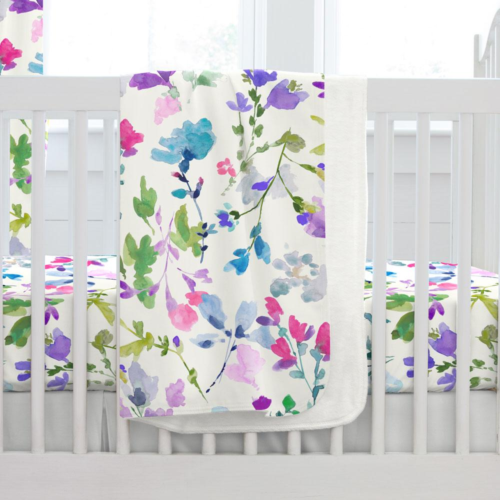 Product image for Bright Wildflower Baby Blanket