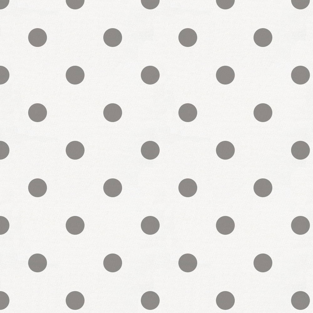 Product image for White and Gray Polka Dot Fabric