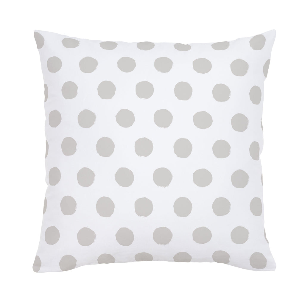 Product image for French Gray Brush Dots Throw Pillow