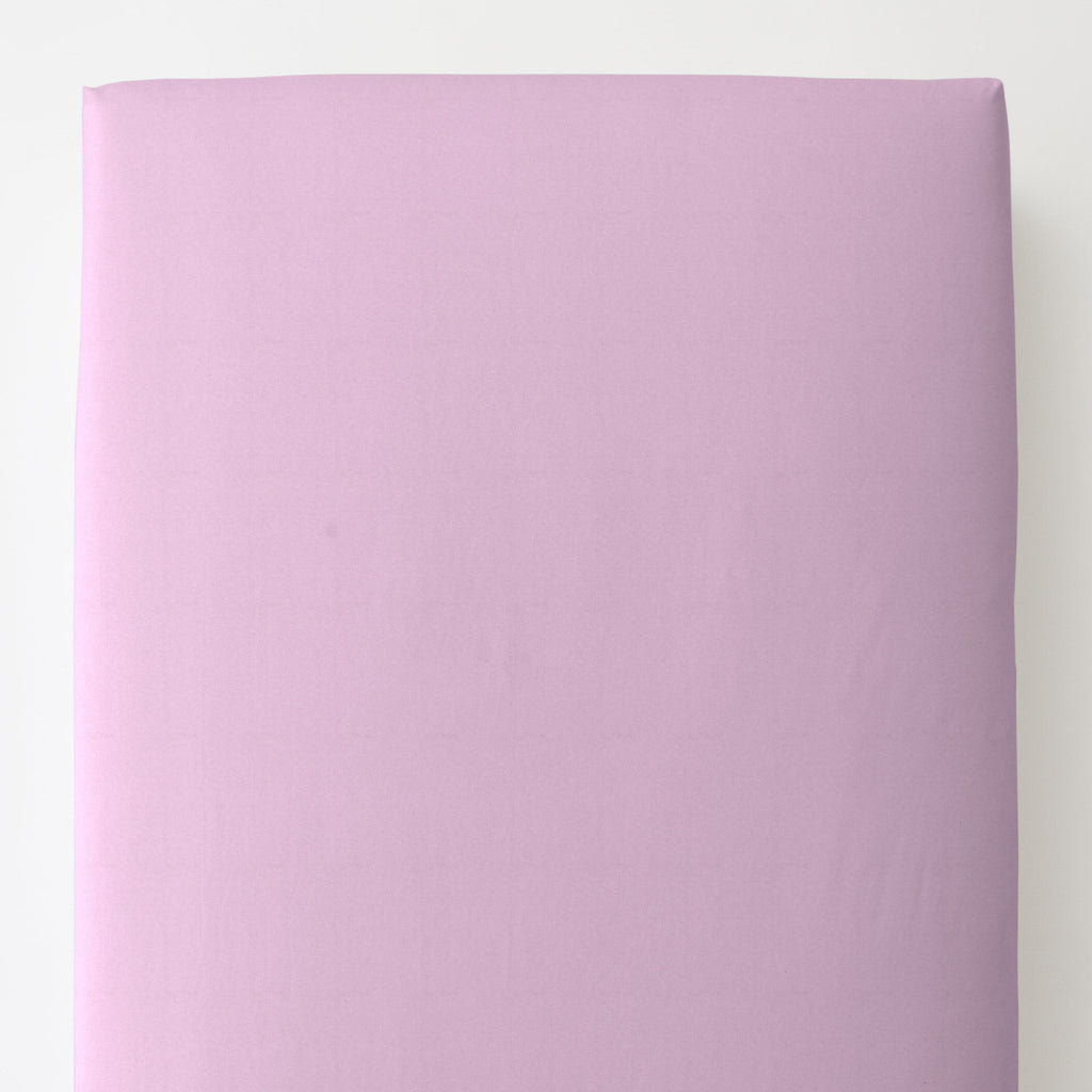 Product image for Solid Orchid Toddler Sheet Bottom Fitted