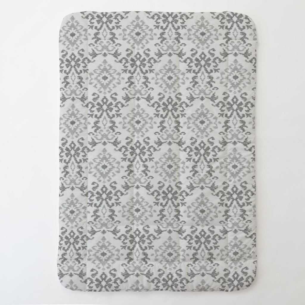 Product image for Gray Ikat Damask Toddler Comforter
