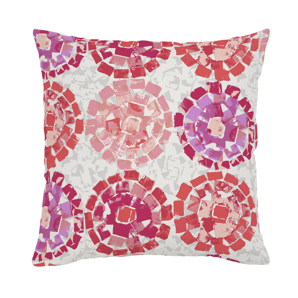 Product image for Coral Modern Mosaic Throw Pillow