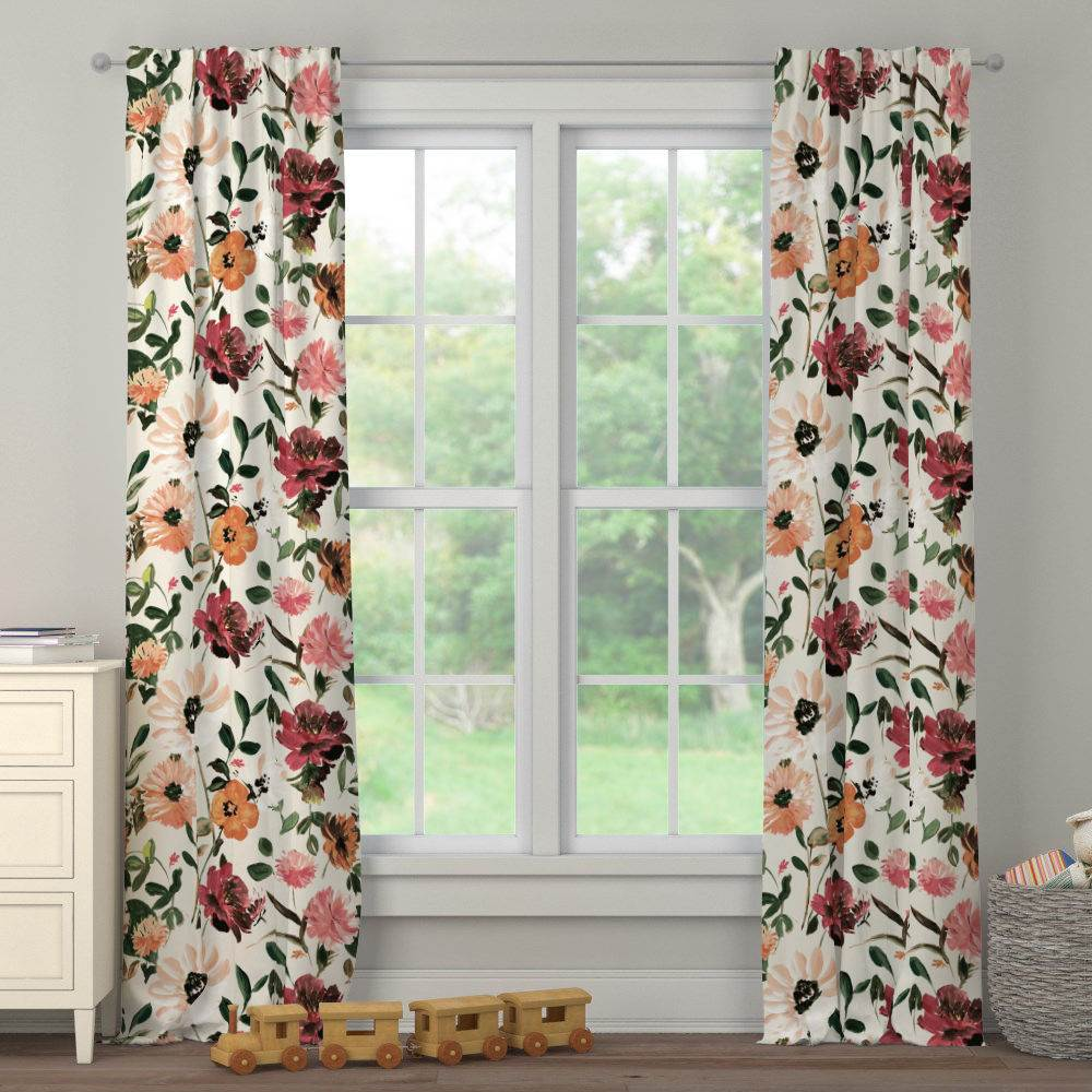 Product image for Moody Floral Drape Panel