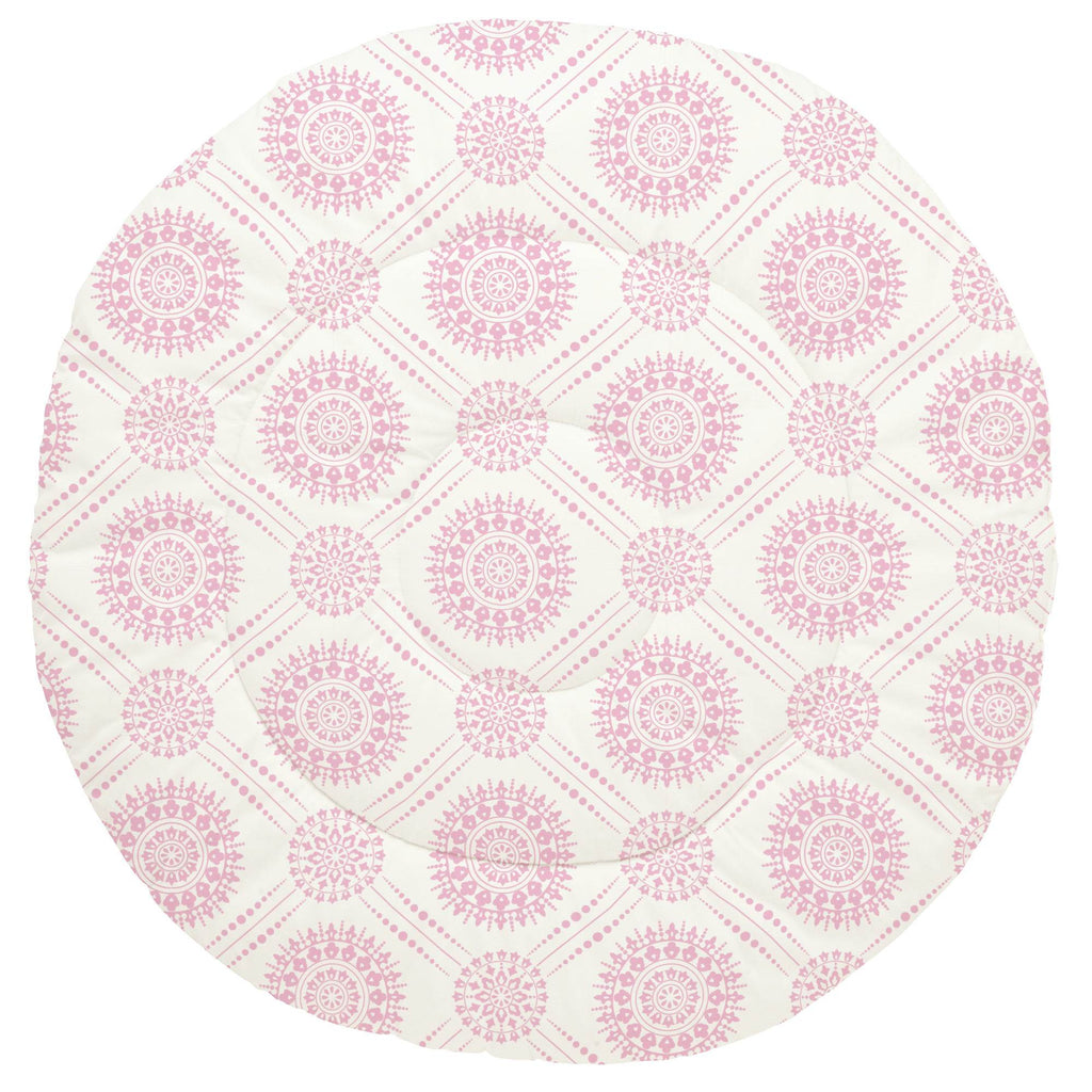 Product image for Bubblegum Pink Modern Medallion Baby Play Mat