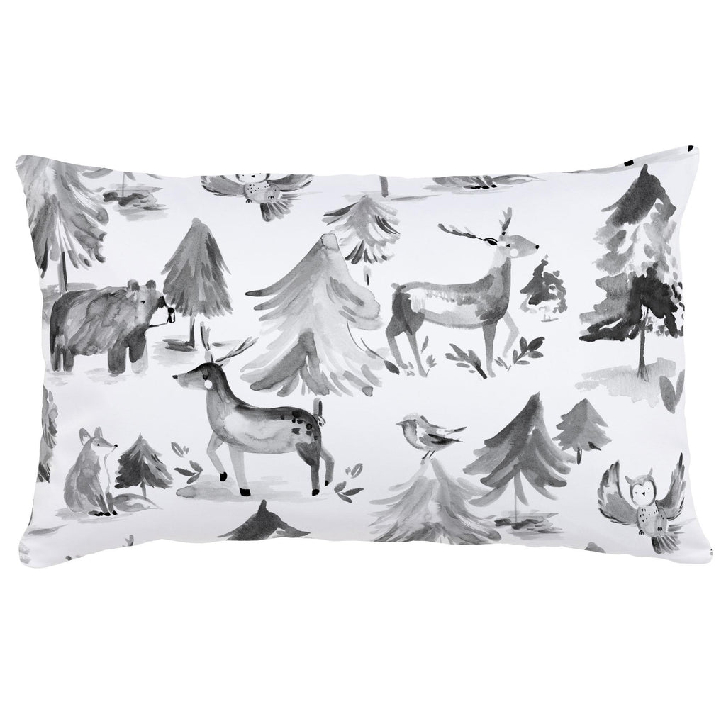 Product image for Gray Painted Forest Lumbar Pillow