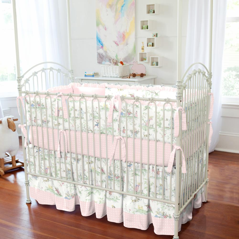 Product image for Nursery Rhyme Toile Crib Bumper with Ruffle
