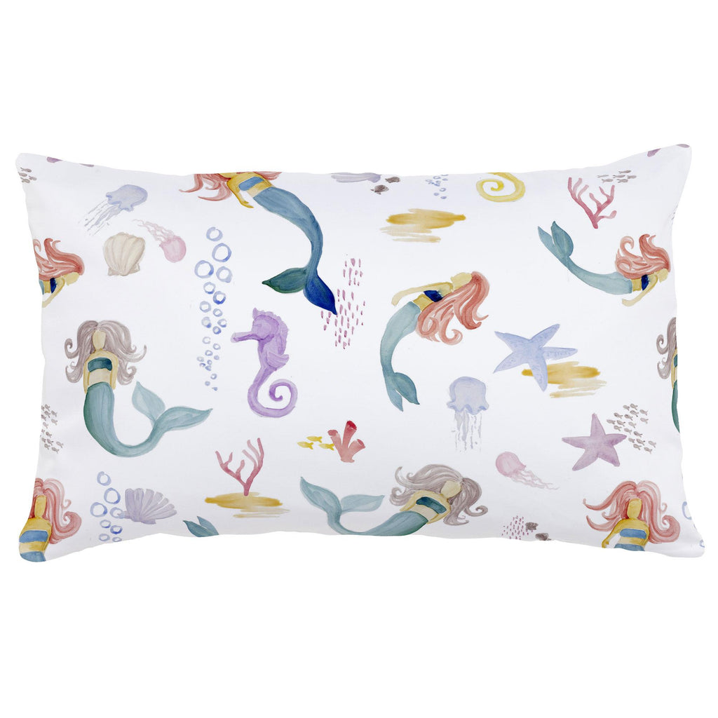 Product image for Watercolor Mermaids Lumbar Pillow