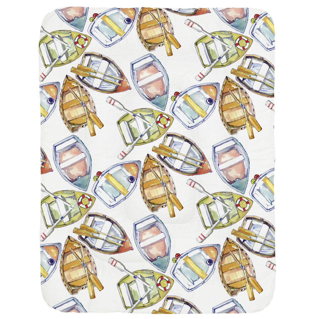 Product image for Watercolor Boats Crib Comforter