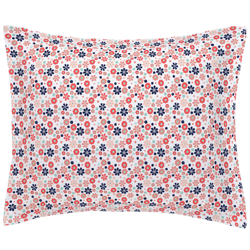 Product image for Coral Spring Flowers Pillow Sham
