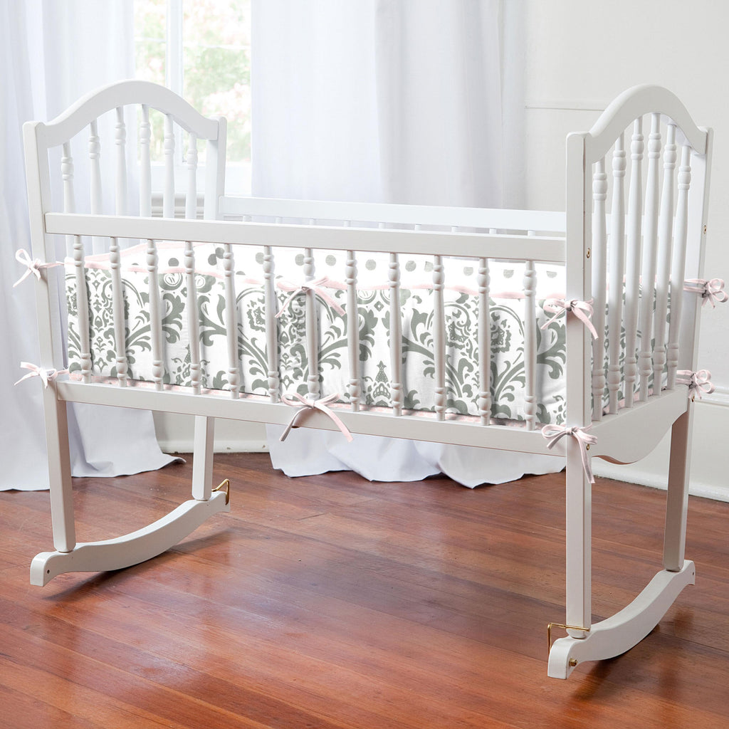 Product image for Gray Traditions Damask Cradle Bumper