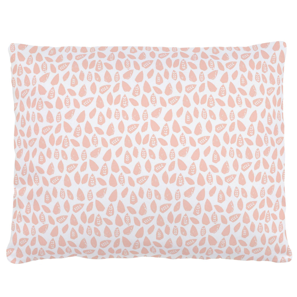 Product image for Peach Woodland Leaf Accent Pillow