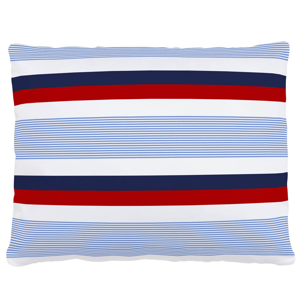 Product image for Red and Blue Stripe Accent Pillow