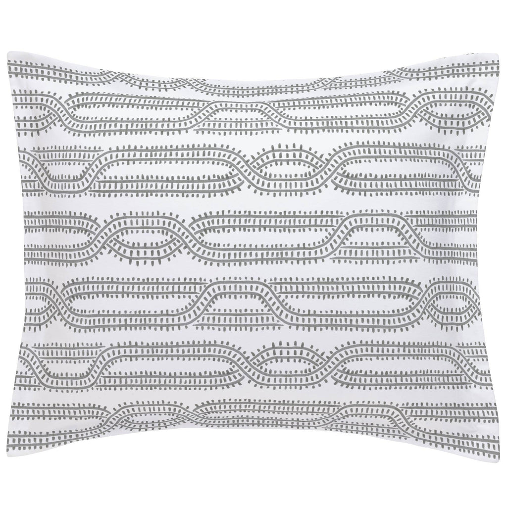Product image for Gray Train Tracks Pillow Sham