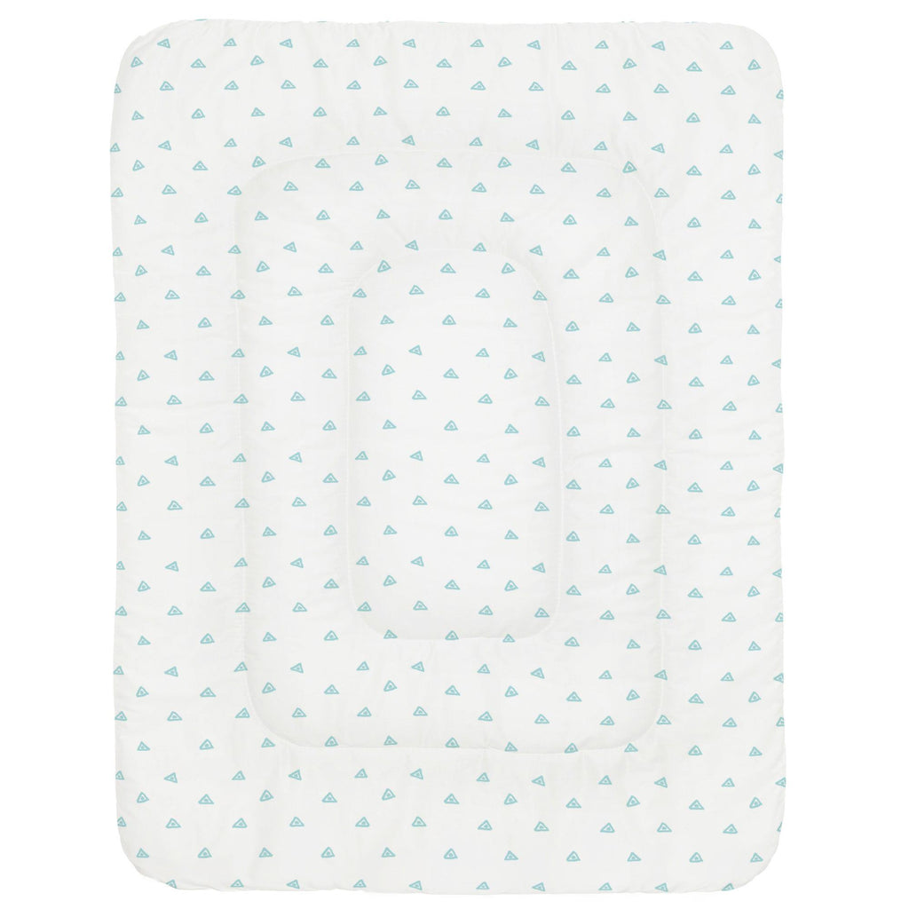 Product image for Seafoam Aqua Triangle Dots Crib Comforter
