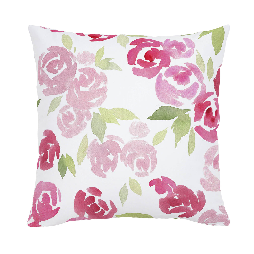 Product image for Watercolor Roses Throw Pillow