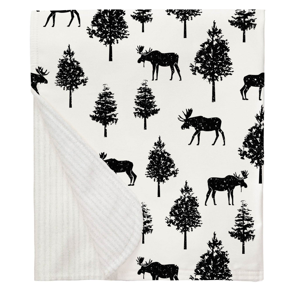Product image for Onyx Moose Baby Blanket