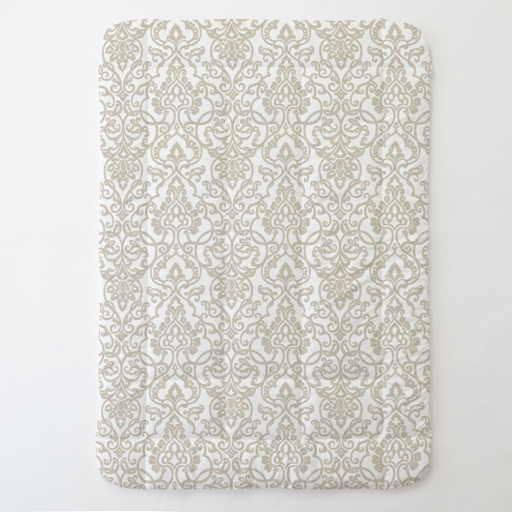 Product image for Taupe Filigree Toddler Comforter