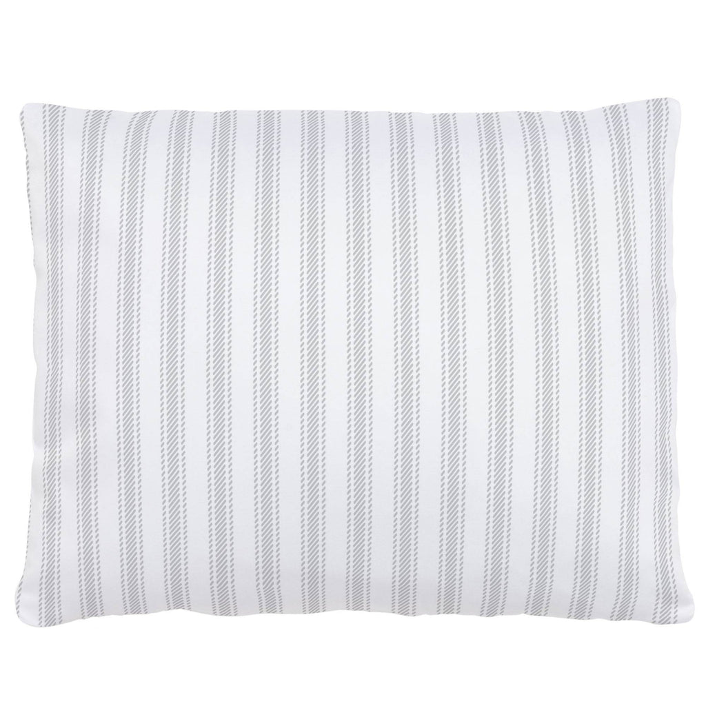 Product image for French Gray Ticking Stripe Accent Pillow