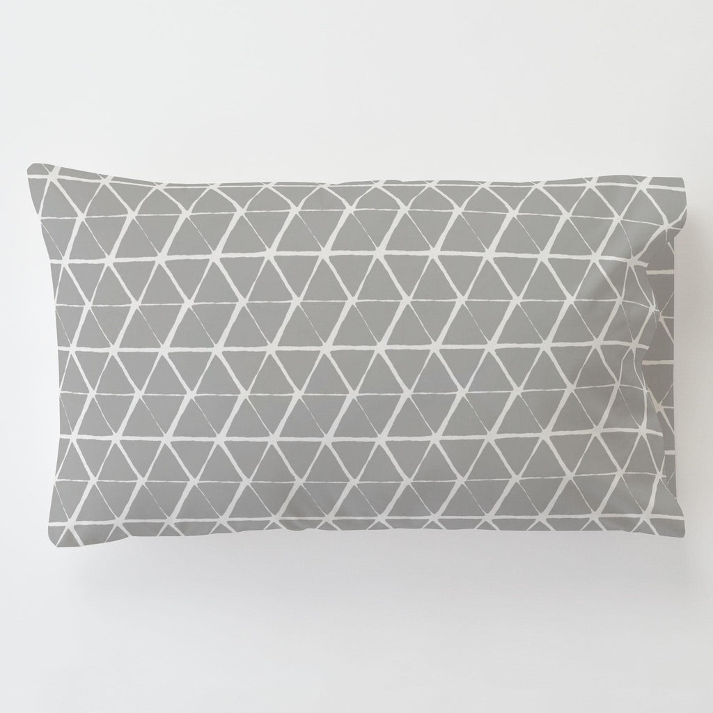 Product image for Gray Aztec Triangles Toddler Pillow Case with Pillow Insert